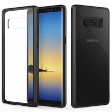 Load image into Gallery viewer, Shockproof Fusion Candy TPU Case With Acrylic Back for Samsung Galaxy Note8 SM-N950U - Black/Clear