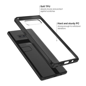 Shockproof Fusion Candy TPU Case With Acrylic Back for Samsung Galaxy Note8 SM-N950U - Black/Clear