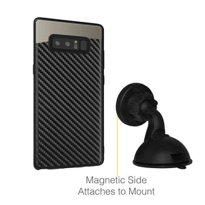 Carbon Metallic Fusion Candy TPU Case with Car Mount System - Black for Samsung Galaxy Note8 SM-N950U