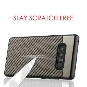 Carbon Metallic Fusion Candy TPU Case with Car Mount System - Grey for Samsung Galaxy Note8 SM-N950U