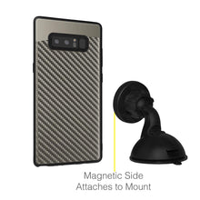 Load image into Gallery viewer, Carbon Metallic Fusion Candy TPU Case with Car Mount System - Grey for Samsung Galaxy Note8 SM-N950U