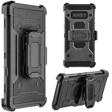Load image into Gallery viewer, Hybrid Shockproof Holster Case with Stand - Black for Samsung Galaxy Note8 SM-N950U