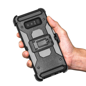Hybrid Shockproof Holster Case with Stand - Black for Samsung Galaxy Note8 SM-N950U