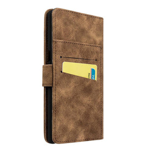 Leather Flip Wallet with Card Slot and Detachable Back Case - Brown for Samsung Galaxy Note8 SM-N950U