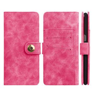 Leather Flip Wallet with Card Slot and Detachable Back Case - Pink for Samsung Galaxy Note8 SM-N950U