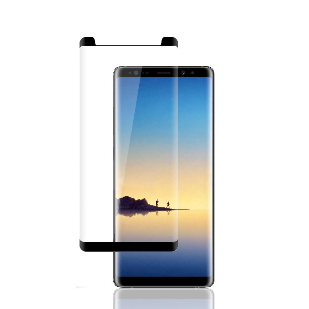 Premium Tempered Glass 3D Curved Screen Protector - Black for Samsung Galaxy Note8 SM-N950U