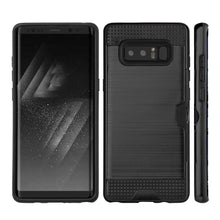 Load image into Gallery viewer, Hybrid Go Case with Credit Card Holder Slot - Black/ Black for Samsung Galaxy Note8 SM-N950U