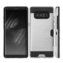 Load image into Gallery viewer, Hybrid Go Case with Credit Card Holder Slot - Black/ Silver for Samsung Galaxy Note8 SM-N950U
