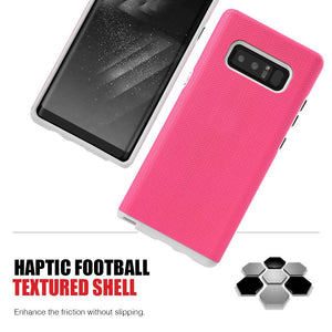 Hybrid Anti Slip Case - Hot Pink for Samsung Galaxy Note8 SM-N950U