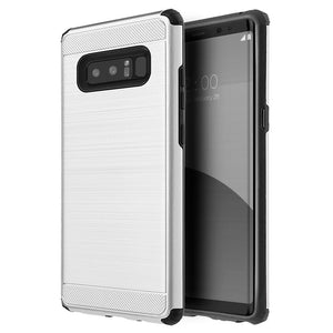 Hybrid Anti Shock Armor Case - Silver for Samsung Galaxy Note8 SM-N950U