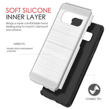 Load image into Gallery viewer, Hybrid Anti Shock Armor Case - Silver for Samsung Galaxy Note8 SM-N950U