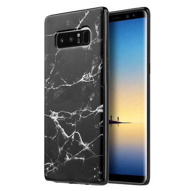 Marble IMD Soft TPU Protective Case - Black for Samsung Galaxy Note8 SM-N950U