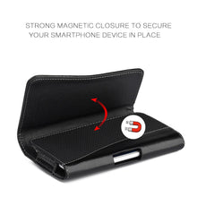 Load image into Gallery viewer, Executive Leather Horizontal Pouch with Belt Clip - Black for iPhone 6