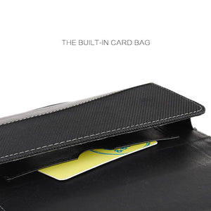 Executive Leather Horizontal Pouch with Belt Clip - Black for iPhone 6