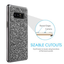 Load image into Gallery viewer, Hybrid Diamond Platinum Collection Bumper Case with Electroplated Frame - Black for Samsung Galaxy Note8 SM-N950U