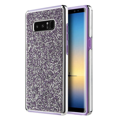 Hybrid Diamond Platinum Collection Bumper Case with Electroplated Frame - Purple for Samsung Galaxy Note8 SM-N950U