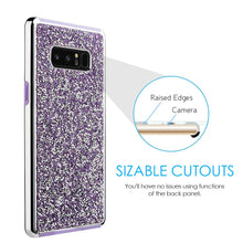Load image into Gallery viewer, Hybrid Diamond Platinum Collection Bumper Case with Electroplated Frame - Purple for Samsung Galaxy Note8 SM-N950U