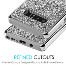 Load image into Gallery viewer, Hybrid Diamond Platinum Collection Bumper Case with Electroplated Frame - Silver for Samsung Galaxy Note8 SM-N950U