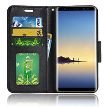 Load image into Gallery viewer, Trendy Wallet Flip Credit Card Case With Stand - White for Samsung Galaxy Note8 SM-N950U