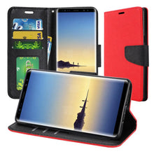 Load image into Gallery viewer, Trendy Wallet Flip Credit Card Case With Stand - Red for Samsung Galaxy Note8 SM-N950U
