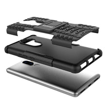 Load image into Gallery viewer, AMZER Shockproof Warrior Hybrid Case for Lenovo K8 Note - Black/Black