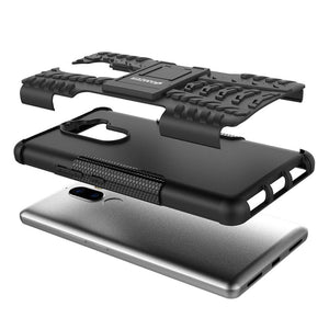 AMZER Shockproof Warrior Hybrid Case for Lenovo K8 Note - Black/Black