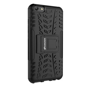 AMZER Shockproof Warrior Hybrid Case for Vivo Y69 - Black/Black