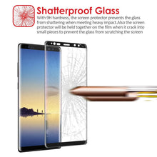 Load image into Gallery viewer, Premium Tempered Glass 2.5D Curved Ultra Clear Anti-Scratch Screen Protector - Black for Samsung Galaxy Note8 SM-N950U