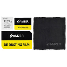 Load image into Gallery viewer, AMZER® Screen Care Kit with Cleaning Cloth, Alcohol Prep Pad, Scratch Card & De-Dusting Film Pack of 5 for Smartphone & Tablet Screens