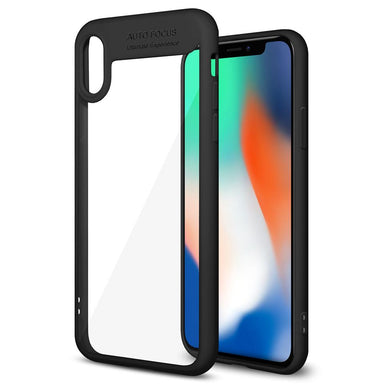 AMZER Bare Hands Hybrid Protection Back Case - Black for iPhone X