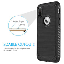 Load image into Gallery viewer, Protective Flexible TPU Case - Black for iPhone X