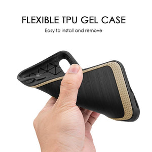 Protective Flexible TPU Case - Gold for iPhone X