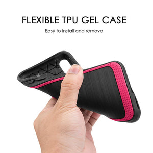 Protective Flexible TPU Case - Red for iPhone X