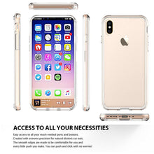 Load image into Gallery viewer, Shockproof Fusion Candy TPU Case with Clear Acrylic Back - Clear for iPhone X