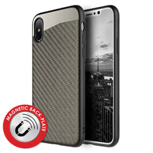 Load image into Gallery viewer, Carbon Metallic Fusion Candy TPU Case with Car Mount System - Grey for iPhone X