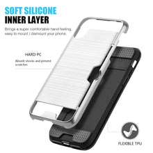 Load image into Gallery viewer, Hybrid Go Case with Credit Card Holder Slot - Black/ Silver for iPhone X
