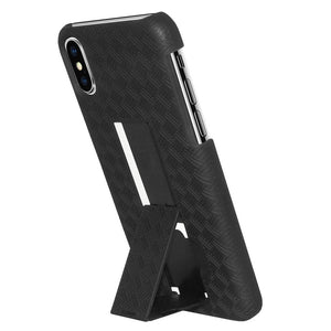 AMZER Shellster Hard Case with Belt Clip Holster for iPhone X - Black