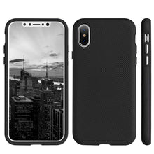 Load image into Gallery viewer, Hybrid Anti Slip Case - Black for iPhone X