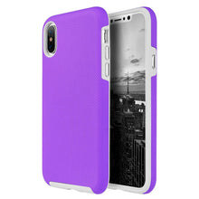 Load image into Gallery viewer, Hybrid Anti Slip Case - Purple for iPhone X