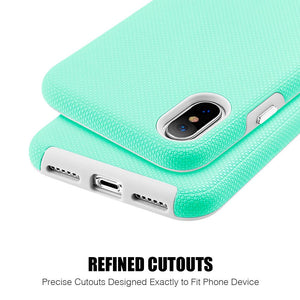 Hybrid Anti Slip Case - Teal for iPhone X