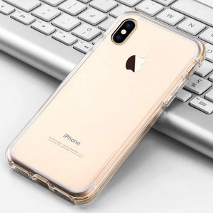 Hybrid TPU Case with Bumper- Clear/ Clear for iPhone X