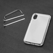 Load image into Gallery viewer, Hybrid TPU Case with Bumper- Clear/ Clear for iPhone X