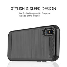 Load image into Gallery viewer, Hybrid Anti Shock Armor Case - Black/ Black for iPhone X