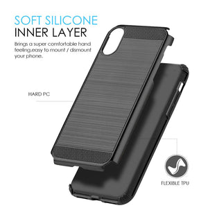 Hybrid Anti Shock Armor Case - Black/ Black for iPhone X