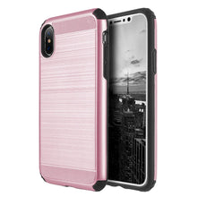 Load image into Gallery viewer, Hybrid Anti Shock Armor Case - Black/ Rose Gold for iPhone X