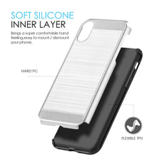 Load image into Gallery viewer, Hybrid Anti Shock Armor Case - Black/ Silver for iPhone X
