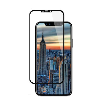 Full Coverage Tempered Glass 3D Curved Screen Protector for iPhone X - Black