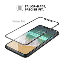Load image into Gallery viewer, Full Coverage Tempered Glass 3D Curved Screen Protector for iPhone X - Black