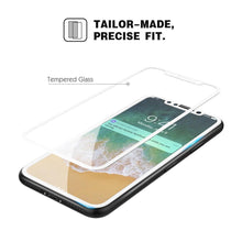 Load image into Gallery viewer, Premium Full Coverage Tempered Glass 3D Curved Screen Protector for iPhone X - White