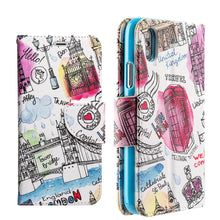 Load image into Gallery viewer, Trendy Leather Flip Wallet Case with Stand and Card Slot - Escape To London for iPhone X